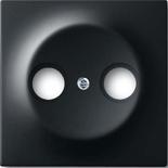 1753-0-0140 - Накладка (центральная плата) для TV-R розетки, серия ABB Impuls (чёрный бархат)