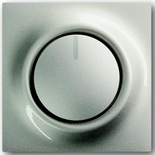 6515-0-0840+6599-0-2159 - Светорегулятор (диммер) поворотный с возвратно-нажимным переключателем, с подсветкой, 600Вт, ABB Impuls (шампань-металлик)