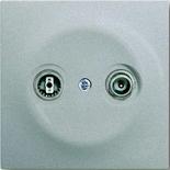 0230-0-0268+1753-0-0040 - Розетка TV-FM проходная, с лицевой панелью ABB Impuls (серебристый металлик)