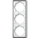 1754-0-4135 - Рамка 3-постовая ABB Impuls (хром)