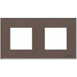 N2272 CC - Двухместная рамка, ABB ZENIT (кофейное стекло)