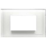 N2474 CB - Четырехмодульная рамка итальянского стандарта, ABB ZENIT (белое стекло)