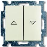 1012-0-2186 - Выключатель жалюзи с фиксацией (шале-белыйй)