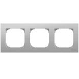 2CLA857300A1401 - Рамка 3-местная ABB Sky (нержавеющая сталь)
