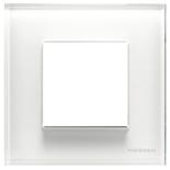 N2271 CB - Одноместная рамка, ABB ZENIT (белое стекло)