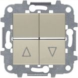 N2244.1 CV (1 шт.) + N2271.9 (1 шт.) - Выключатель жалюзи с фиксацией, 16А, ABB ZENIT (шампань)