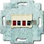0230-0-0402 - Механим розетки для динамиков ABB (цоколь цвета слоновой кости)