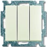 1012-0-2183 - Выключатель трехклавишный ABB Basic 55 (шале-белый)