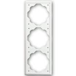 1754-0-4433 - Рамка 3-постовая ABB Impuls (белый бархат)