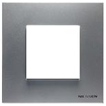 N2271 PL - Одноместная рамка, ABB ZENIT (серебристая)
