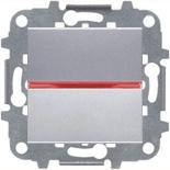 N2202 PL (1 шт.) + N2192 RJ (1 шт.) + N2271.9 (1 шт.) - Переключатель одноклавишный с подсветкой, 16А, ABB ZENIT (серебристый)