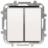 8122+2CLA851100A1101 - Переключатель двухклавишный, 10А, с клавишей ABB Sky (белый)