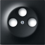 1753-0-0139 - Накладка (центральная плата) для TV-R-SAT розетки, ABB Impuls (чёрный бархат)