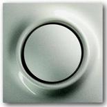 1413-0-0871+1753-0-0008 - Кнопка с перекидным контактом без нейтрали с клавишей ABB Impuls (шампань-металлик)