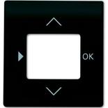 6430-0-0382 - Лицевая панель для терморегулятора (термостата) электронного для тёплых полов, с таймером, ABB Impuls (чёрный бархат)