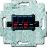0230-0-0404 - Механим розетки для динамиков ABB (черный цоколь)