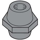 EV1124 - Изолятор для шин 20,25,50x5 М6x30, ABB (25шт.)