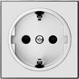 2CLA858800A2101 - Накладка для розеток SCHUKO, ABB SKY (белое стекло)