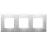 N2273 OX - Трехместная рамка, АВВ Зенит (стальная)