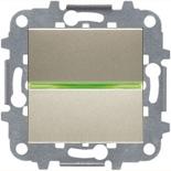 N2201.5 CV (1 шт.) + N2271.9 (1 шт.) - Выключатель одноклавишный с индикацией, 16А, ABB ZENIT (шампань)