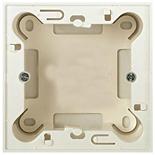 N2991 BL - Цоколь для открытой установки на 1-2 модуля, без рамки, ABB ZENIT (альпийский белый)