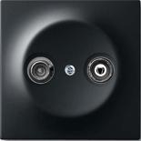 S2900+1753-0-0140 - Розетка TV-FM оконечная, с механизмом Jung и панелью ABB Impuls (черный бархат)