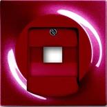 1753-0-0130 - Лицевая панель для розетки телефонной/компьютерной на 1 коннектор, ABB Impuls (бордо)