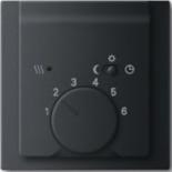 1032-0-0498+1710-0-3919 - Терморегулятор для тёплого пола с электроподогревом, 16А/250В, с лицевой панелью ABB Impuls (чёрный бархат)