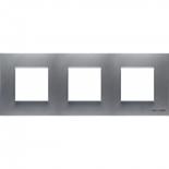 N2273 PL - Трехместная рамка, ABB ZENIT (серебристая)