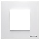 N2271 BL - Одноместная рамка, ABB ZENIT (белая)