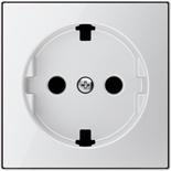 2CLA858890A2101 - Накладка для розеток SCHUKO с плоской поверхностью, ABB SKY (белое стекло)