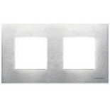 N2272 OX - Двухместная рамка, ABB ZENIT (стальная)