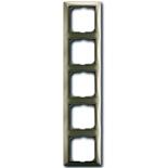 1725-0-1530 - Пятиместная рамка с декоративной накладкой ABB Basic 55 (бежевая)