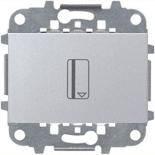 N2214.5 PL (1 шт.) + N2271.9 (1 шт.) - Карточный выключатель, 16А, ABB ZENIT (серебристый)