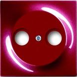 1753-0-0109 - Накладка для антенной розетки TV+FM, ABB Impuls (бордо)