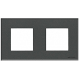 N2272 CF - Двухместная рамка, ABB ZENIT (стекло «графит»)