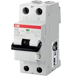 2CSR255040R1104 - Диф. автомат ABB DS201, 10A, тип AC, 30mA, 6кА, 2M, класс С