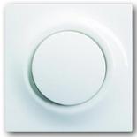 1413-0-0897+1753-0-0007 - Кнопка с перекидным контактом, с нейтралью, с клавишей АВВ Импульс (альпийский белый)
