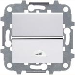 N2260 BL (1 шт.) + N2271.9 (1 шт.) - Светорегулятор клавишный 40-500Вт, ABB ZENIT (белый)