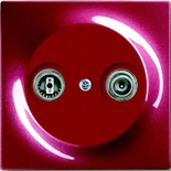 0230-0-0380+1753-0-0109 - Розетка TV-FM оконечная, с лицевой панелью ABB Impuls (бордо)