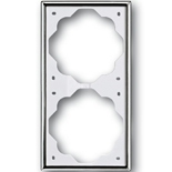 1754-0-4134 - Рамка 2-постовая ABB Impuls (хром)