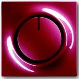 6512-0-0302+6599-0-2932 - Светорегулятор (диммер) поворотный с возвратно-нажимным переключателем, с подсветкой, 500Вт, ABB Impuls (бордо)