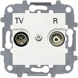 8150.7 (1 шт.) + N2250.8 BL (1 шт.) + N2271.9 (1 шт.) - Розетка TV-R проходная, ABB Zenit (белая)