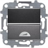 N2260 AN (1 шт.) + N2271.9 (1 шт.) - Светорегулятор клавишный 40-500Вт, ABB ZENIT (антрацит)