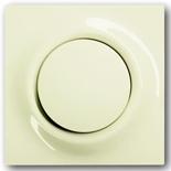 1413-0-0871+1753-0-0066 - Кнопка с перекидным контактом без нейтрали с клавишей АББ Импульс (слоновая кость)