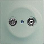 S2900-10+1753-0-5440 - Розетка TV-FM проходная, с механизмом Jung и панелью ABB Impuls (шампань-металлик)