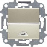 N2260 CV (1 шт.) + N2271.9 (1 шт.) - Светорегулятор клавишный 40-500Вт, АВВ Зенит (шампань)