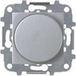 N2260.2 PL (1 шт.) + N2271.9 (1 шт.) - Светорегулятор с поворотной кнопкой 60-500Вт, ABB ZENIT (серебристый)