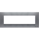 N2777 PL - Семимодульная рамка итальянского стандарта, ABB ZENIT (серебристая)