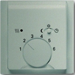 1032-0-0498+1710-0-3579 - Терморегулятор для тёплого пола с электроподогревом, 16А/250В, с лицевой панелью ABB Impuls (шампань-металлик)